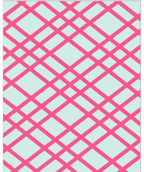 Sky and Hot Pink Bulletin Board - Memo Board