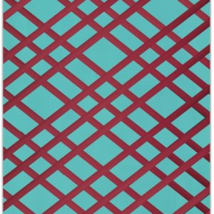 Teal and Burgundy Bulletin Board - Memo Board